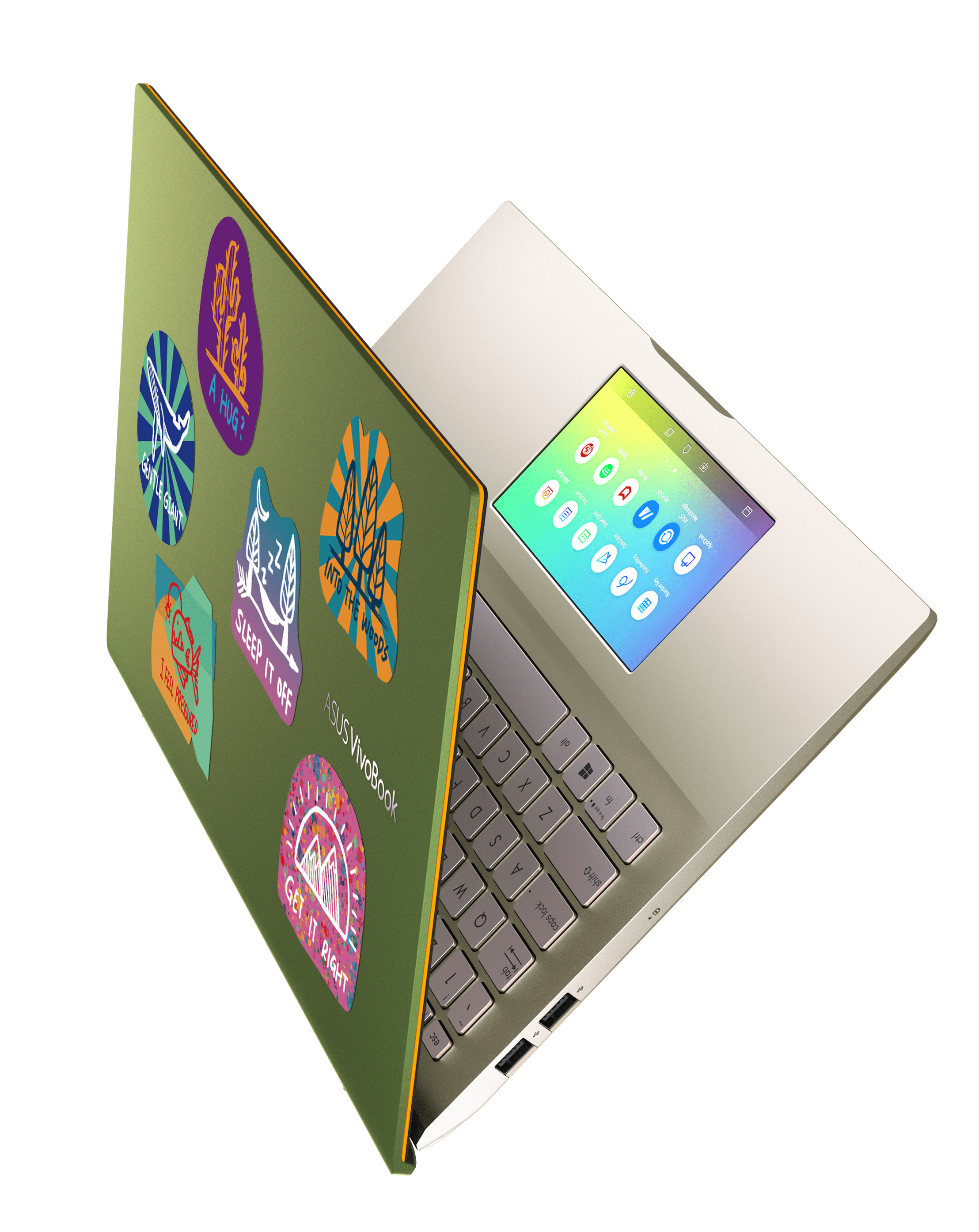 ASUS VivoBook S14_S15_Stylish stickers allow younger users to further personalize their VivoBook