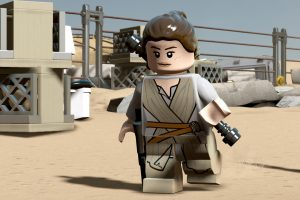 See the LEGO version of Rey in action in LEGO Star Wars: The Force Awakens