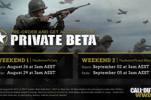 Call of Duty: WWII closed beta is available for pre-loading on PS4