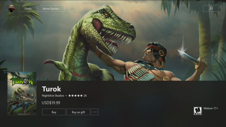 How to download Turok on Xbox One in Australia