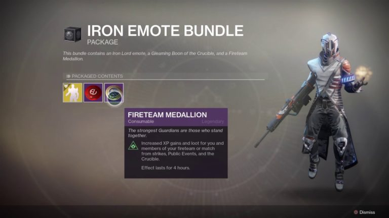 The new Iron Banner emote in Destiny 2 costs $10 and isn't available elsewhere