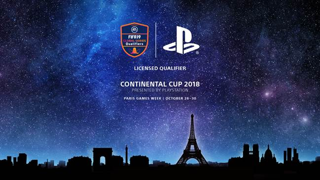 Play FIFA 19 for your chance to win a trip to Paris Games Week and compete in the Continental Cup 2018