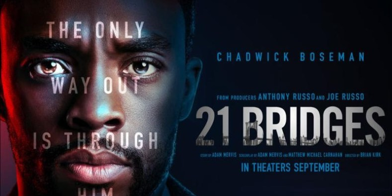 Chadwick Boseman stars in 21 Bridges as a cop hunting two cop killers