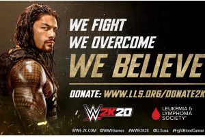 2K and WWE 2K20 partner with The Leukaemia & Lymphoma Society to raise funds for research