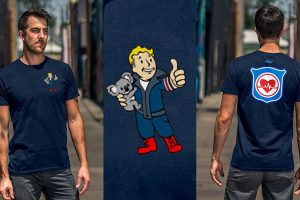 Bethesda is selling a Vault Boy Responder T-shirt to raise money for bushfire relief